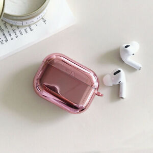 For AirPods Pro 2 1 Case 3D Plating TPU Protective Earphone Charging Box Cover