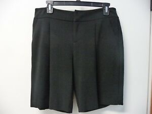 NWT Women's ELLE Textured Black Dressy Shorts Size 4 Retail $44
