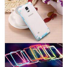 % FLASH CASE Hülle Light Handy Rahmen Schutzhülle Case Cover Apple iPhone 5 BLAU