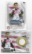 MATT ANTOINE 2018 Topps U.S. Olympic AUTOGRAPH & RELIC Lot (2 Cards)