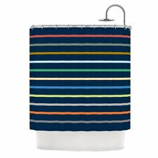 "Kess InHouse Trebam ""Tanak"" Navy Blue Shower Curtain, 69 by 70-Inch"