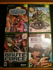 Lot of 4 Microsoft Xbox Games Halo Red Dead Brute Force MTV Complete!