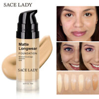 SACE LADY Face Foundation Cream Base Makeup Pro Matte Finish Make Up S8Yt