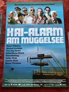 Haialarm Am Müggelsee Kinoplakat Poster A0, 84x119cm, Detlef Buck, Fürmann