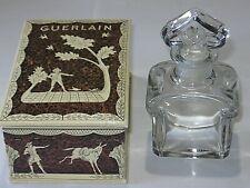 "Vintage Guerlain Glass Baccarat Perfume Bottle/Box Mitsouko 4 3/4"" - Open/Empty"
