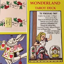 WONDERLAND TAROT DECK- Morgana Abbey, 1989 - ALICE IN WONDERLAND, NEW SEALED OOP