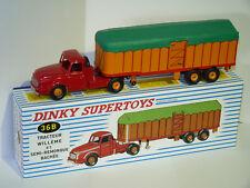 camion Willème et semi-remorque bâchée - ref 36B / 36 B dinky supertoys atlas