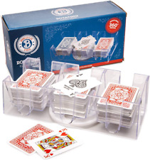 Durable Convenient Yuanhe 9 Deck Clear Canasta Playing Card Tray Rotating