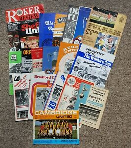 19 1970's Football Programmes – Various Clubs – 1970-1979 – All Listed