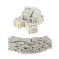 1:35 Resin Model DIY Scenery Sandbags Wall Ammunition Boxes Bags Unpainted