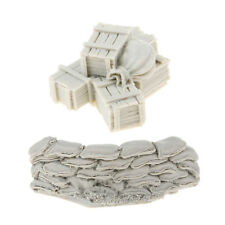 1:35 Resin Model DIY Scenery Sandbags Wall Ammunition Boxes Bags Unpainted