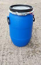 60L Litre Open Top Plastic Barrel, Keg, Drum   Over 100 plus in stock