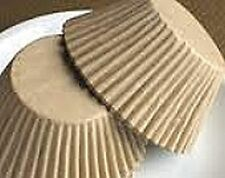 1000 Unbleached JUMBO LARGE Cupcake MUFFIN Liners Baking Cups NATURAL Wrappers