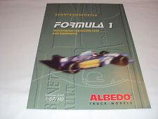 W/4/13/1 Modellauto Auto Katalog Prospekt Albedo Formel 1 Renntransporter 1995