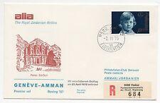 1975 LEICHTENSTEIN ALIA VOLO GENEVE-AMMAN B/6996