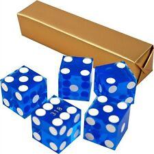 19mm Grade A Serialized Precision Casino Craps Dice - Set of 5 (Blue) Pro Dice