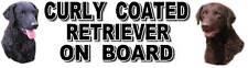 CURLY COATED RETRIEVER ON BOARD Car Sticker - Starprint