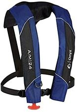Absolute Outdoor Onyx A/M-24 Automatic/Manual Inflatable Life Jacket, Blue,