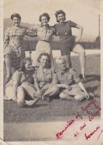 OLD PHOTO WOMEN GLAMOUR UNIFORM RAF GEORGE 61 AIR SCHOOL WW2 SOUTH AFRICA W6