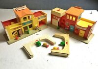 Vintage 1973 Fisher Price Play Family Village With Accessories #997