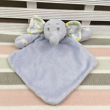 Tesco F&F Blue Elephant Comforter Blanket Soother Hug Toy