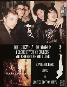"Vintage My Chemical Romance Bullets Vinyl Promo Store Poster Large 18""X 24"" RARE"