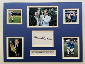 """Everton Howard Kendall Signed 16"""" X 12"""" Double Mounted Display"""