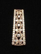 14 Karat Rose Gold Diamond Pendant    I-7171