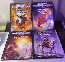 Lot of 4 ESSENTIAL D&D 2nd Ed BOOKS Player's Handbook DMG Tome of Magic Adventur