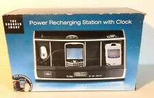 Sharper Image Power Recharging Station w/Clock - cell phone/Pda/Bluetooth - New