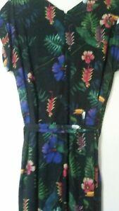 Beautiful Size 16 Taking Shape Wild Jungle Jumpsuit Rrp $139.95 Pockets Sleeves