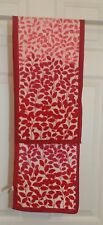 TERRIART Fushia and Pink Leaves 10x47 Long Scarf-Vintage