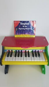 Melissa and Doug Kids Learn-to-Play Piano Toy Wooden  *Excellent Condition*