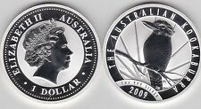 2009 AUSTRALIA P20 SILVER 1oz.KOOKABURRA AND SUNBURST IN CAPSULE