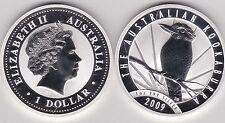 2009 AUSTRALIA P20 SILVER 1oz.KOOKABURRA AND SUNBURST IN CAPSULE