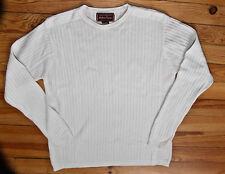 bonito suéter cuello redondo algodón blanco MARLBORO CLASSICS talla XLARGE
