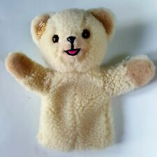 Vintage Plush Snuggle Bear Teddy Hand Puppet Lever Advertising Toy Russ Berrie