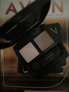 Avon Eyeshadow Duo   Warm Cashmere Imperfect  Box