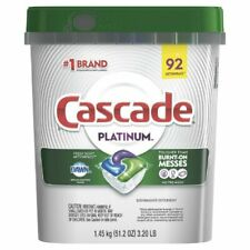 Cascade Platinum ActionPacs Dishwasher Detergent, Fresh - 92 Count