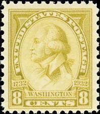 1932 8c Washington, Charles B. J. F. Saint Memin, Olive Scott 713 Mint F/VF NH
