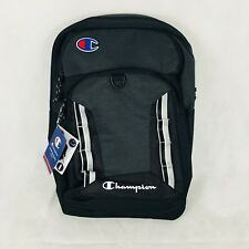 Champion Expedition Spellout School Travel Backpack Black Gray