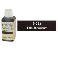 Eco Flo Professional Waterstain Dark Brown 250 ml (8.5 fl oz.) 2800-02 Tandy Dye