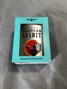 Natural American Spirits Silver Tin Round New In Box Holds 20 Cig (not Included)