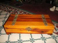 Vintage PA Pennsylvania Cigar Box Cedar Dovetail No 126 12th District Trinket