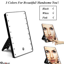 3 Colors Touch Screen Makeup Mirror LED Adjustable Light Kit Rotatable US