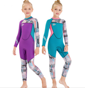 New Kids Children 2.5mm Neoprene Diving Suit Youth Girl Swim Surf Scuba Wetsuits