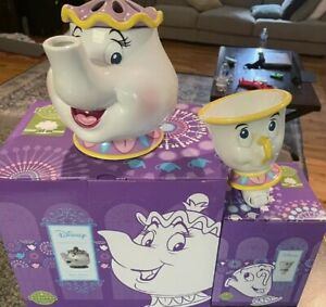 Scentsy Disney Beauty and the Beast Mrs Potts & Chip Tabletop + Wax + Samples