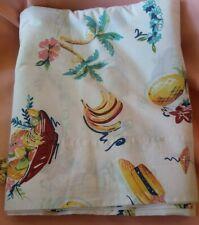 Pottery Barn Tropical Paradise Hawaiian Queen Flat Sheet w/ Bananas & Palm Trees