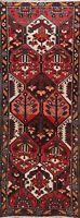 Vintage Geometric Bakhtiari Vegetable Dye Handmade Runner Rug Wool Oriental 3x9