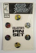 SILVER SURFER COLLECTOR'S PIN SET 6 PINS MARVEL 1989 GALACTUS